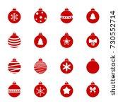 colorful christmas balls set.... | Shutterstock .eps vector #730552714