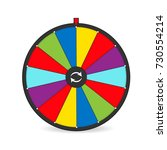 color lucky well game. vector... | Shutterstock .eps vector #730554214