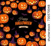 banner with pumpkins for...   Shutterstock .eps vector #730570048
