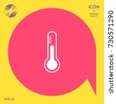 thermometer icon. | Shutterstock .eps vector #730571290