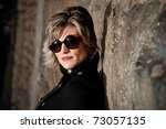 portrait of young model with... | Shutterstock . vector #73057135