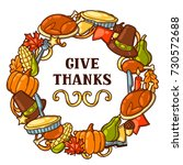 happy thanksgiving day frame... | Shutterstock .eps vector #730572688