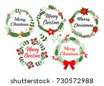 new year greeting card elements.... | Shutterstock .eps vector #730572988