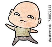 cartoon nervous man | Shutterstock .eps vector #730573933