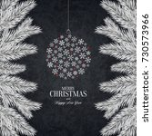 christmas and new year. vector... | Shutterstock .eps vector #730573966