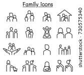 family icon set in thin line... | Shutterstock .eps vector #730575340