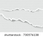 set of blank torn paper sheets. ... | Shutterstock .eps vector #730576138