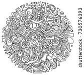 cartoon cute doodles hand drawn ... | Shutterstock .eps vector #730576393