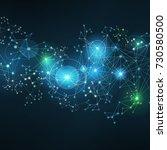 polygonal technology background   Shutterstock .eps vector #730580500
