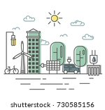 energy saving and... | Shutterstock . vector #730585156