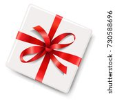 gift box with red bow gradient... | Shutterstock .eps vector #730588696