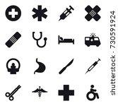 16 vector icon set   invalid | Shutterstock .eps vector #730591924