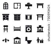 16 vector icon set   arch... | Shutterstock .eps vector #730593424
