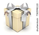 gift box or present box with... | Shutterstock . vector #730598110
