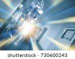 iv drip bottle on the... | Shutterstock . vector #730600243