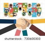 flat design illustration... | Shutterstock .eps vector #730600303