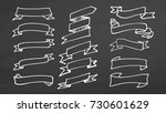 white banner and ribbons on... | Shutterstock .eps vector #730601629