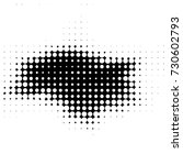 grunge black and white dots... | Shutterstock .eps vector #730602793