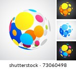 colored globe icons
