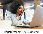 beautiful afro american woman... | Shutterstock . vector #730606990