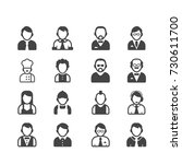 people icons | Shutterstock .eps vector #730611700