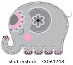 elephant. cute animal character ... | Shutterstock .eps vector #73061248