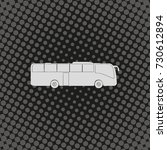 coach bus icon. | Shutterstock . vector #730612894