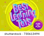best learning toys vector... | Shutterstock .eps vector #730613494