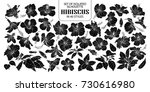 set of isolated silhouette... | Shutterstock .eps vector #730616980