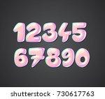 princess font  cute sweet comic ... | Shutterstock .eps vector #730617763