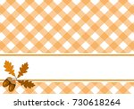 background decorated with oak... | Shutterstock .eps vector #730618264