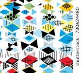 geometric memphis postmodern...   Shutterstock .eps vector #730624480