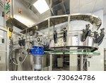 empty glass bottles on the... | Shutterstock . vector #730624786