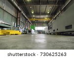 a long shop of a factory for... | Shutterstock . vector #730625263