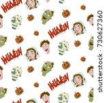 Pattern. Halloween. Zombie ...