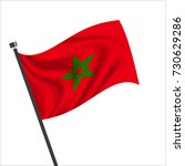 flag of morocco. morocco icon... | Shutterstock .eps vector #730629286