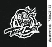 recording studio logo template. ... | Shutterstock .eps vector #730629433