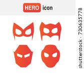 hero mask vector. super hero... | Shutterstock .eps vector #730635778