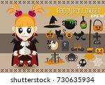 vector set of characters for...   Shutterstock .eps vector #730635934