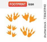 dinosaur footprint vector.... | Shutterstock .eps vector #730635940