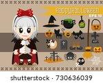 halloween character.vector set...   Shutterstock .eps vector #730636039