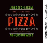 decorative sanserif font and...   Shutterstock .eps vector #730636966