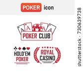 logo poker casino. poker club... | Shutterstock .eps vector #730639738