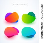 modern abstract bubbles... | Shutterstock .eps vector #730640230