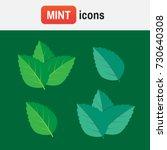 peppermint mint vector. mint...   Shutterstock .eps vector #730640308