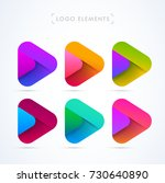 vector abstract play icon logo...