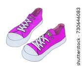 purple canvas shoes. girl's... | Shutterstock . vector #730646083