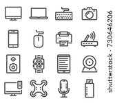 vector line electronic devices...