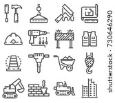 vector construction icons set.... | Shutterstock .eps vector #730646290