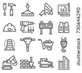 vector construction icons set.... | Shutterstock .eps vector #730646290